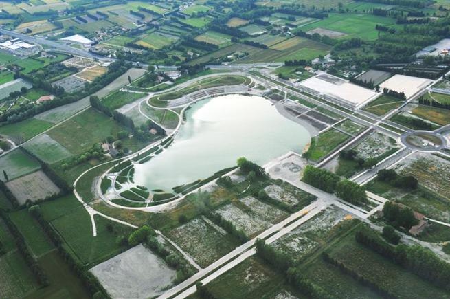Monteux, France – Positionnement de l'écoquartier de Beaulieu