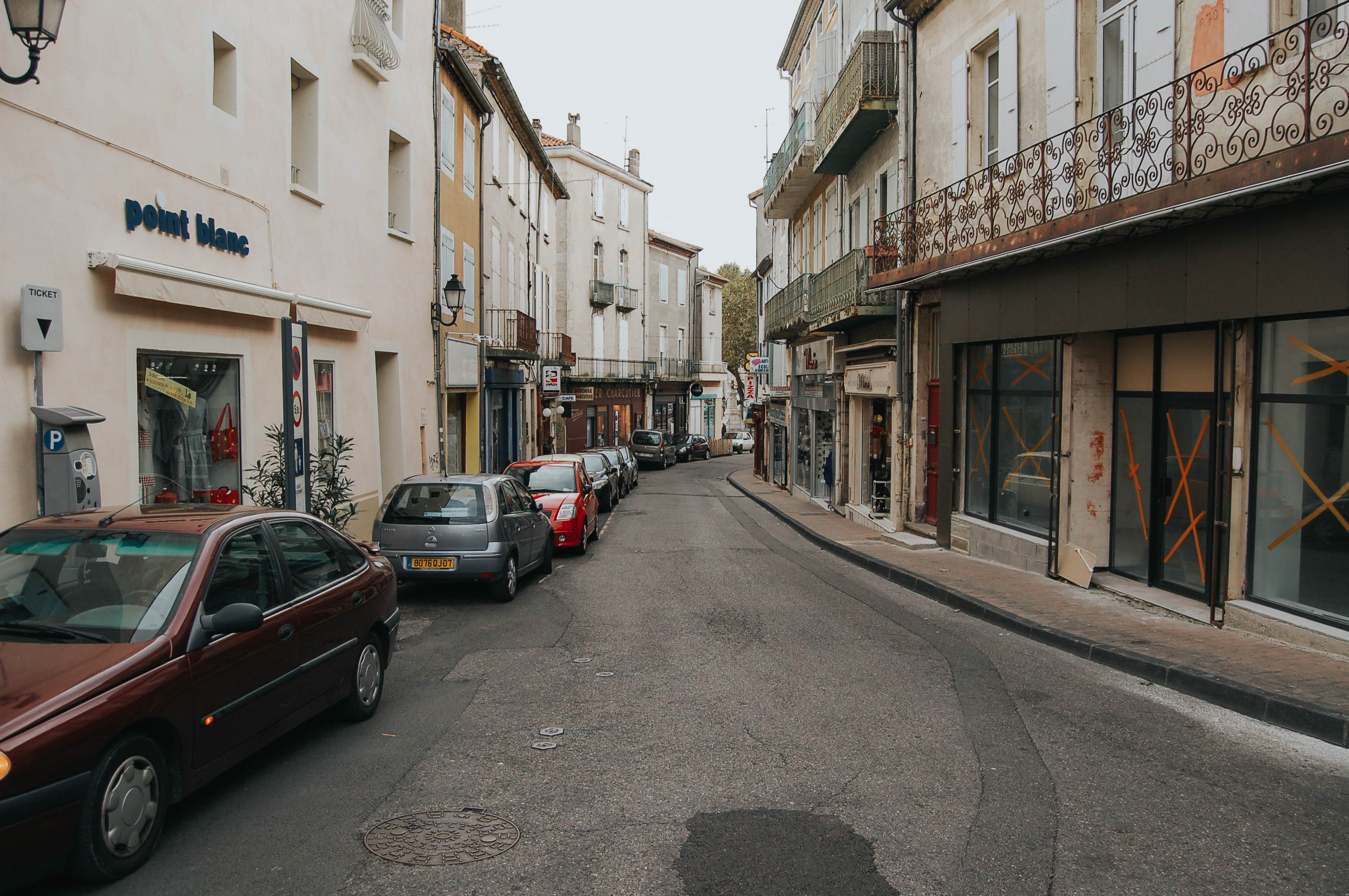 Aubenas, France - City centre